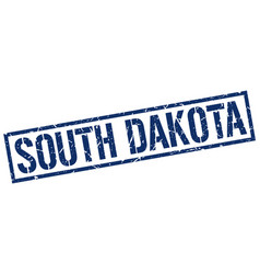 South dakota blue square stamp vector