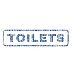 Toilets textile stamp vector
