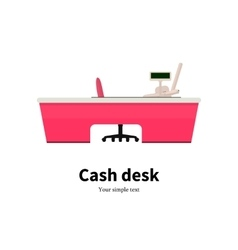 Colored cash desk at a supermarket vector