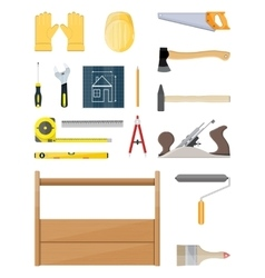 Construction tools set carpentry instruments vector