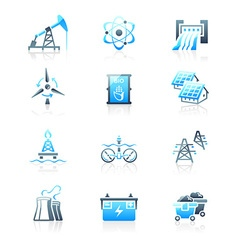 Energy icons - MARINE series vector image