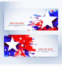 American grunge flag banners set vector