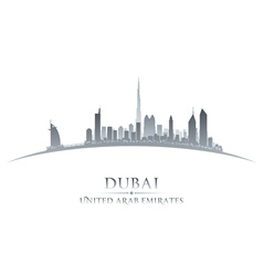 Dubai uae city skyline silhouette vector