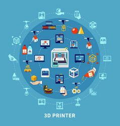 3d printing design composition vector