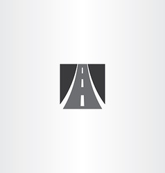 Black square highway auto road icon vector