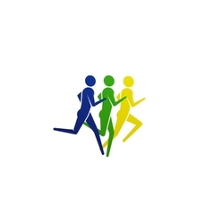 Running or jogging people icon vector