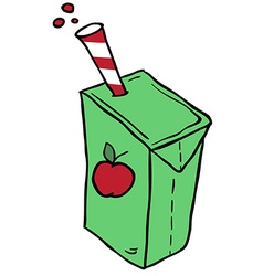 Freehand drawn cartoon juice box vector