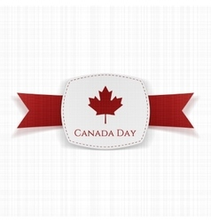 Canada day festive label with ribbon vector