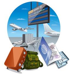 Airport arrival departure vector