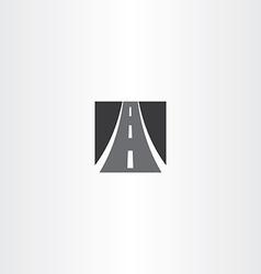 Black square highway auto road icon vector