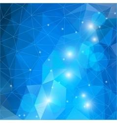 Bluel polygonal mosaic background vector image