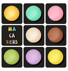 Collection of macaron vector