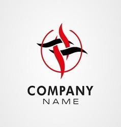 creative logo ideas develop icon symbol move vector image