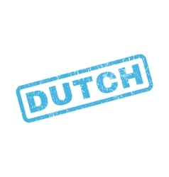 Dutch Rubber Stamp vector image vector image