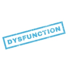 Dysfunction rubber stamp vector
