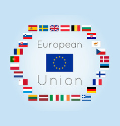 European union countries flags vector