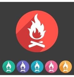 Fire icon flat web sign symbol logo label vector