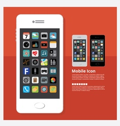 Flat Design Mobile Icon vector image