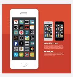 Flat Design Mobile Icon vector image