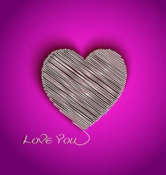 heart shape with I Love You message vector image