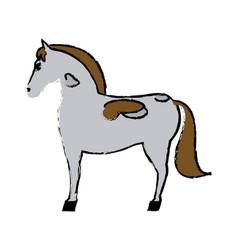 Horse mammal farm domestic animal icon vector