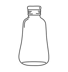 Line long mason jar preserve decoration vector