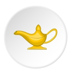 Magic lamp icon cartoon style vector