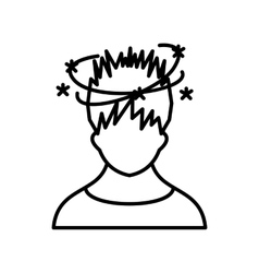 Man with dizziness icon outline style vector