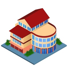 Modern building isometric vector image vector image