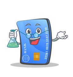 Professor credit card character cartoon vector