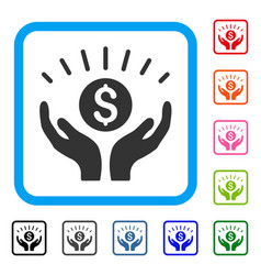 Prosperity framed icon vector