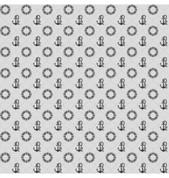 Seamless patterns gray anchors and lifebuoy vector image