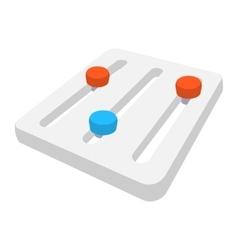 Seo setting tuner cartoon icon vector