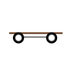 Skate board wooden wheels image icon vector