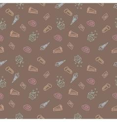 sweet sketch pattern vector image vector image