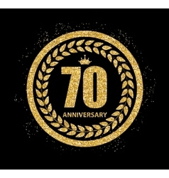 Template logo 70 years anniversary vector