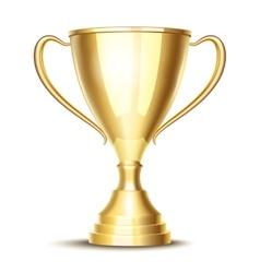 winner trophy cup vector image vector image