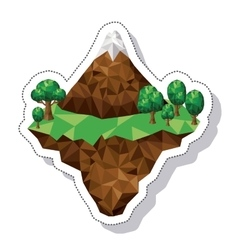 Mountain landscape isometric icon vector