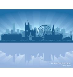 Manchester england skyline vector