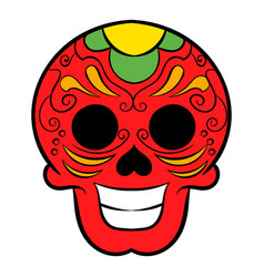 Latin skull icon cartoon vector
