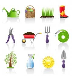 garden icon vector image