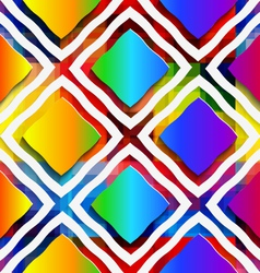 Rainbow colored rectangles and rim on rainbow vector