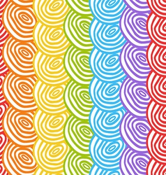 Seamless simple rainbow doodle background with vector