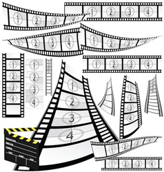 film strip and movie clipper vector image