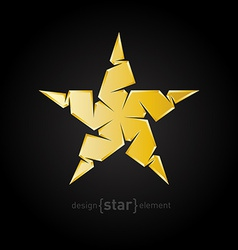Luxury golden star on black background vector
