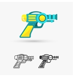 Space laser ray gun gun toy icon vector