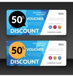 Gift voucher market offer template layout with vector image