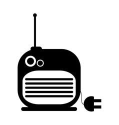 Radio with cord icon vector