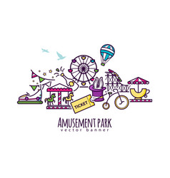 Amusement park attraction vector
