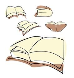 Book cartoon icon vector